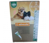 ADVOCATE FOR DOGS under 4Kg 3x0,4 ml pipettes