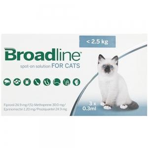 BROADLINE cats 0-2,5Kg 3 pipettes