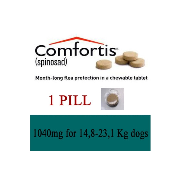 Comfortis 174 1040mg Dogs 14 8 To 23 1kg Monthly Flea