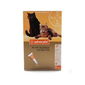 ADVOCATE ® FOR CATS UNDER 4Kg 3x0,4ml pipettes