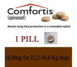 COMFORTIS 1620mg dogs 23,2 to 36,0Kg monthly Flea treatment 1 PILL