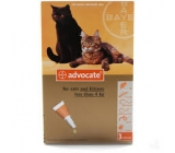 ADVOCATE FOR CATS UNDER 4Kg 3x0,4ml pipettes